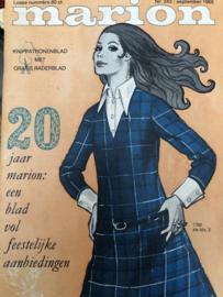 1968 | Marion naaipatronen maandblad | nr. 243 september 1968 - met radarblad - 20-jaar Marion JUBILEUM
