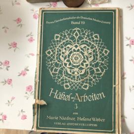 VERKOCHT | 1921 | Boeken | Haken | Beyers Handarbeitsbücher Marie Niedner | Häkel = Arbeiten 3  Band 19
