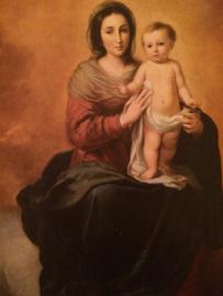 Kunstkaart Rijksmuseum Madonna met kindje Jezus |  jaren '50