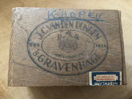 Nederland | Oud sigarendoosje J.C. van Dungen Hofleverancier 's-Gravenhage - minimum Nicotine