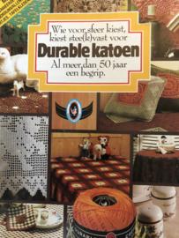 VERKOCHT   1981   Haken   Boeken   Durable   No. 8/81 - Wie voor sfeer kiest kiest stee(k) vast voor durable katoen al meer dan 50 jaar een begrip