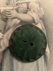 Knopen | Groen | 25 mm met reliëf randje | jaren '60