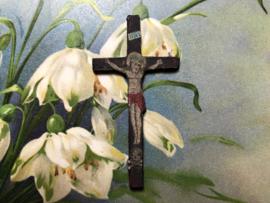 Frankrijk | Religie | Katholiek | Antiek klein houten kruisje
