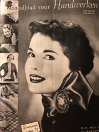 VERKOCHT | Ariadne: maandblad voor handwerken | 1953 nr. 75 - maart (7e jaargang) - met werkblad - PASEN