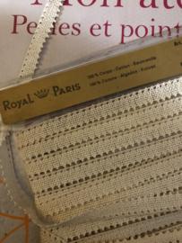 Band | Creme | Vintage zakdoekband (1 cm) Royal Paris | 100% katoen