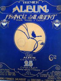 1920 | Muziek | Bladmuziek Premier Album Francis Salabert pour piano et chant, Paris Content 25 Succes Paroles Aglaises et Francaises | Jugenstil 1920-30