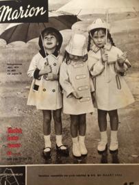 VERKOCHT | 1965 | Marion naaipatronen maandblad | nr. 201 - maart 1965 - met radarblad - jurkjes, mantelpakjes