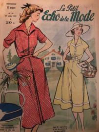 Tijdschriften   Le Petit Echo de la Mode Hebdomaire 9   no. 30 27 Julliet 1952