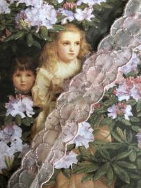 Kant   Roze   Vintage poeder-roze organza kant (2 cm)