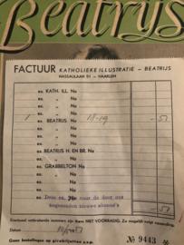 1951 - Factuur Katholieke illustratie Beatrijs Haarlem