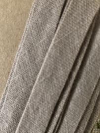 Band | Beige | Biaisband | 1 cm | Beige - restant op kaartje ca. 2 meter