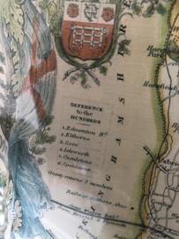 Schilderij | Landkaart van het oude Middlesex in Engeland