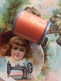 Mölnlycke Spijn Syntet Göteborg | Oranje 9270 - 110 meter | 120 Yard Yarn 100% polyester naaigaren klosje 2 x 3 cm | Vintage