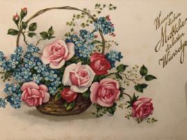 1950 | Moederdag | Briefkaart - Meisjner no 106  'Meinem lieben Mutchen die besten Wunchen'