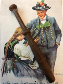 Eikenhouten antiek kantklosje | ca. 1880-1900 | Plain