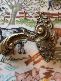 Messing | Deurkhendel - deurbeslag - deurklinker van zwaar messing - decoratief exemplaar 'Barok' | ca. 1900-1950