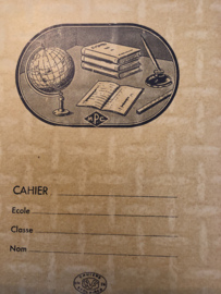 1950 | Protège-cahier Cahiers Scolaires no. 802 - Schrifthoes geel