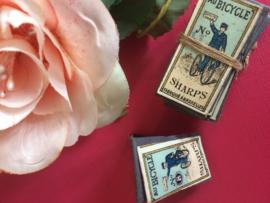 Au Bicycle SHARPS needles | Antiek naaldenpakje poppenhuis  mininaaldjes  nr. 8 | jaren '20