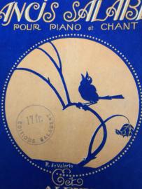 1920   Bladmuziek Premier Album Francis Salabert pour piano et chant, Paris Content 25 Succes Paroles Aglaises et Francaises   Jugenstil 1920-30