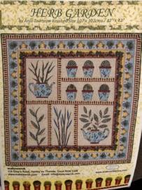 "Herb Garden by Anja Townrow Finished size 107 x 107 cms 42"" x 42"""
