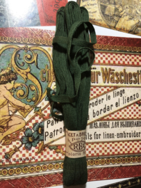 Band | Groen | Antiek Frans borduurlint RBC 'Lacet a Broder' pon 70 - coloris no. 7  - ca. 1900-1910
