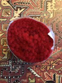 Tapijtwol | Parley - 408- Fel rood | Pakje  zuiver scheerwol Teppichwolle - Carpetwool -  IRAN - Made in Holland ca. 1960