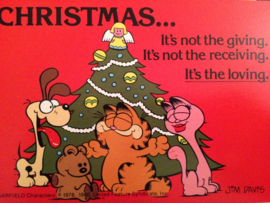 1978 - Garfield - vintage briefkaart Christmas