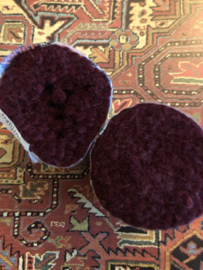 Tapijtwol | Parley - 603 - Donker bruin | Pakje  zuiver scheerwol Teppichwolle - Carpetwool -  IRAN - Made in Holland ca. 1960