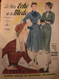 Tijdschriften   Le Petit Echo de la Mode Hebdomaire 9   no. 9 - 2 Mars 1952    LENTE