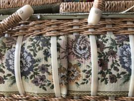 Naaidozen | Vintage stoffen naaidoos met rozen 🌹 en riet