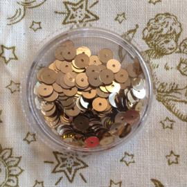 Gouden pailletten lovertjes 5 mm. | per doosje
