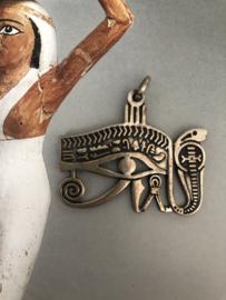 Sieraden | 'Oog van Horrus' met slang - Sterling zilveren hanger | 7 gram