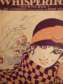 1920 | Muziek | Bladmuziek | Whispering (Murmures). Paroles francaises de Pierre Chapelle.