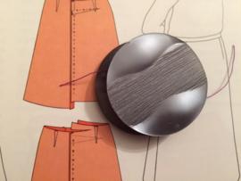 Knopen | Grijs | 37 mm reliëf met 1  gaatje