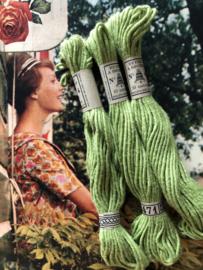 Katoen | 2471 groen | Retors A Broder DMC no 4 - 10 métres Dollfus Mieg & Co | ca. 1920