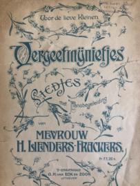 1910 | Bladmuziek | Voor de lieve kleinen: Vergeetmijnietjes Liedjes met pianobegeleiding van mevrouw H. Lienders-Frackers - G.H. van Eck en Zoon 's-Gravenhage (ca. 1910)