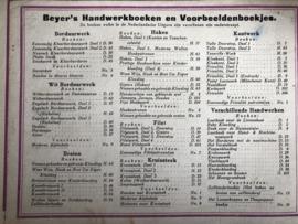 . Overzicht van Beyer's Handwerkboeken en voorbeeldboekjes ca. 1900-1905