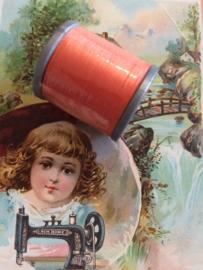 Mölnlycke Spijn Syntet Göteborg | Oranje 9285 - 110 meter | 120 Yard Yarn 100% polyester naaigaren klosje 2 x 3 cm | Vintage