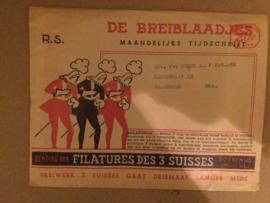 1953 | Breien | De Breiblaadjes: voor sokkenwol met wolstaaltje - Vintage breireclame  | Breibladen 1953