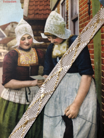 Band | Goud & wit | Vintage prachtig satijnband met goudaccenten 'Golven' - 1 cm - 10 mm