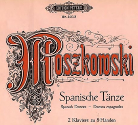 1929 | Muziek | Bladmuziek | Spanische Tanze | Moritz Moszkowski op. 12 Spanish Dances | Danses Espagnoles | Klavier zu 2 Händen