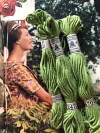 Katoen | 2470 groen | Retors A Broder DMC no 4 - 10 métres Dollfus Mieg & Co | ca. 1920