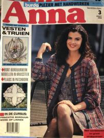 Tijdschriften | Handwerken | Anna - Burda: plezier met handwerken  | 1994 nr. 03 maart VESTEN & TRUIEN