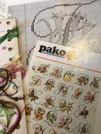 PAKO Handwerken | Telpatroon letter F 13 x 18 met wat garen