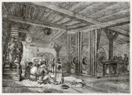1850 | Old Darstellung Schärfen Werkstatt in antiken Nadel Fabrik. Von unbekannten Autors, auf Magasin Pittoresque, Paris, 1850 veröffentlicht