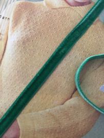 Band | Groen | Grasgroen fluweelband  'Gras velvet' (1 cm) - stukje van 2 meter