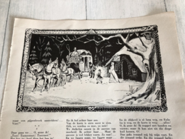 1954 | Illustratie uit tijdschrift  van v.d. Hulst - winterlandschap