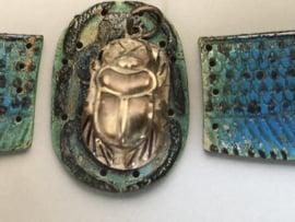 VERKOCHT | Sieraden | 'Scarabee' - Sterling zilveren ketting hanger met hiëroglief van een scarabee | 3 gram