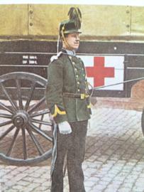 Verzamelkaart leger uniformen nr. 20 | België | Trein | 1910