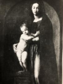 VERKOCHT | Foto | Jezus & Maria | Devotie | Vintage Zwart-wit fotootje PISA